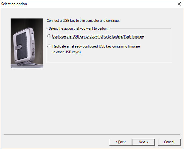 Wyse USB Imaging program opening prompt
